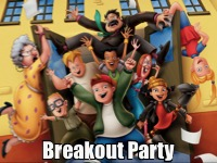 Breakout Party Night Logo